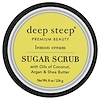 Deep Steep, Sugar Scrub, Lemon Cream, 8 oz (226 g)
