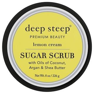 Deep Steep, Сахарный скраб, лимонный крем, 8 унц. (226 г)