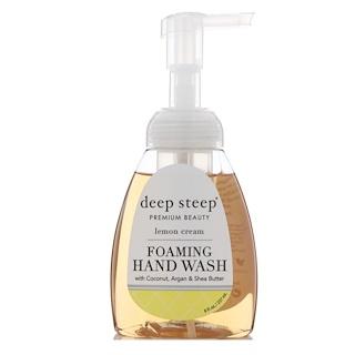 Deep Steep, Foaming Hand Wash, Lemon Cream, 8 fl oz (237 ml)