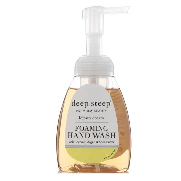 Deep Steep, 泡沫洗手液,檸檬奶油,8液量盎司(237毫升)
