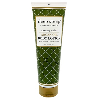 Deep Steep, Argan Oil Body Lotion, Rosemary-Mint, 8 fl oz (237 ml)