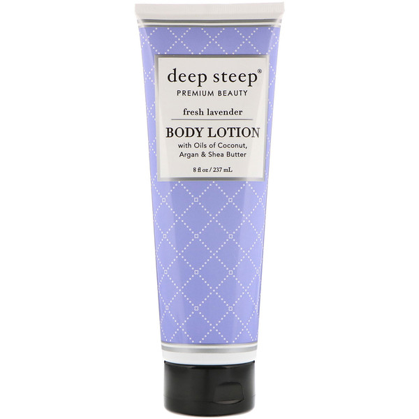 Deep Steep, Body Lotion, Fresh Lavender, 8 fl oz (237 ml) (Discontinued Item)