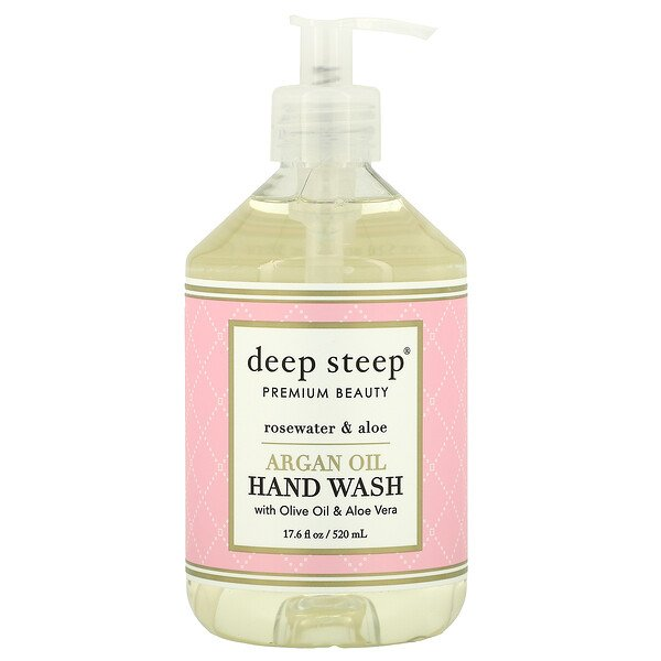 Argan Oil Hand Wash, Rosewater & Aloe, 17.6 fl oz (520 ml)