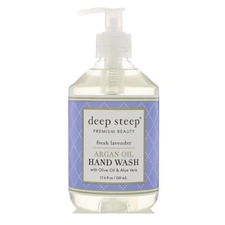 Deep Steep, アルガンオイル・ハンドウォッシュ、フレッシュラベンダー、17.6液量オンス (520 ml)