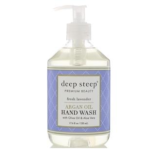 Deep Steep, Argan Oil Hand Wash, Fresh Lavender, 17.6 fl oz (520 ml)