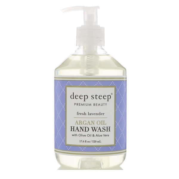 Deep Steep, Argan Oil Hand Wash, Fresh Lavender, 17.6 fl oz (520 ml)
