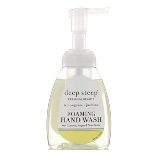 Deep Steep, Foaming Hand Wash, Lemongrass - Jasmine, 8 fl oz (237 ml)