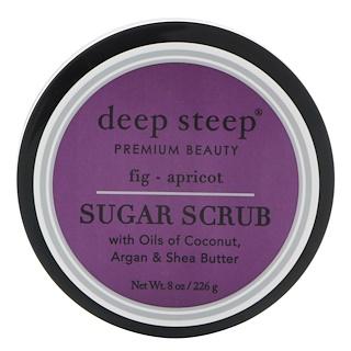 Deep Steep, シュガースクラブ、イチジク - アプリコット、8オンス (226 g)