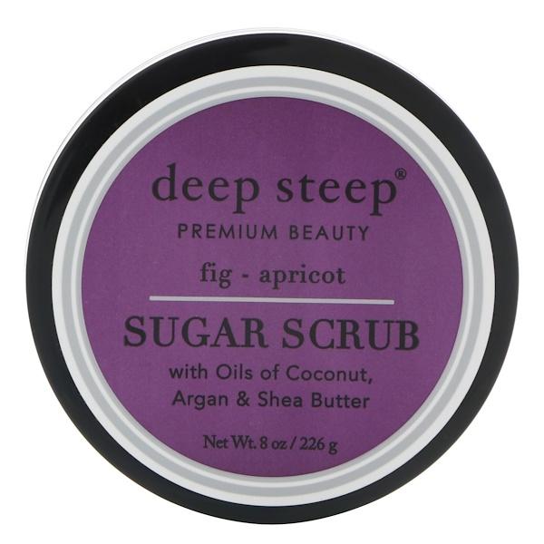 Deep Steep, فرك السكر، التين - المشمش، 8 أوقية (226 جم) (Discontinued Item)