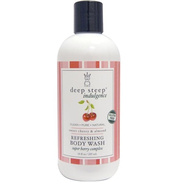 Deep Steep, Indulgence, Refreshing Body Wash, Sweet Cherry & Almond, 10 fl oz (295 ml) (Discontinued Item)