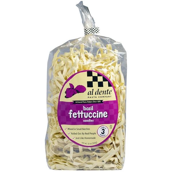 Al Dente Pasta, Basil Fettuccine Noodles, 12 oz (341 g) (Discontinued Item)