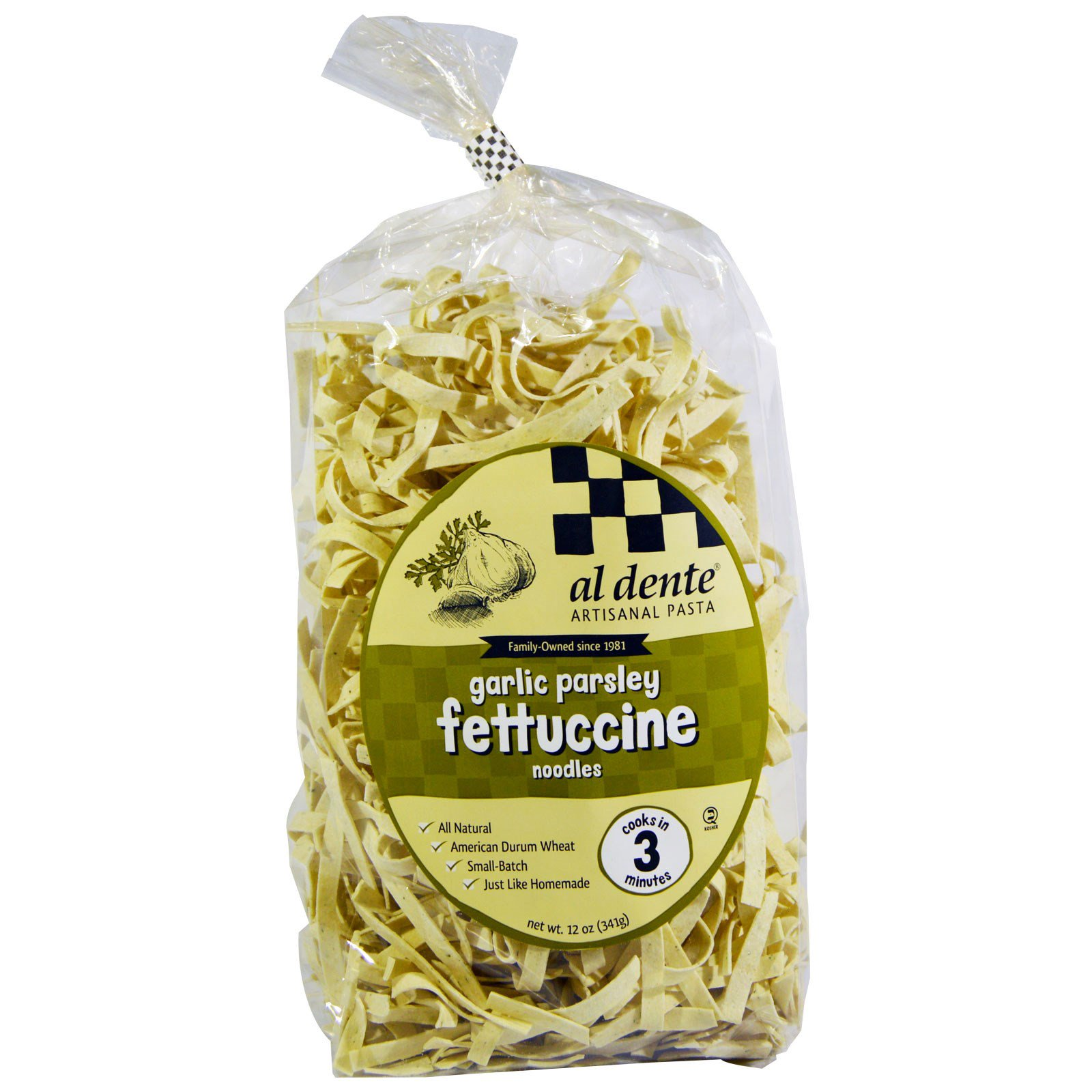 al dente pasta garlic parsley fettuccine noodles 12 oz 341 g. Black Bedroom Furniture Sets. Home Design Ideas