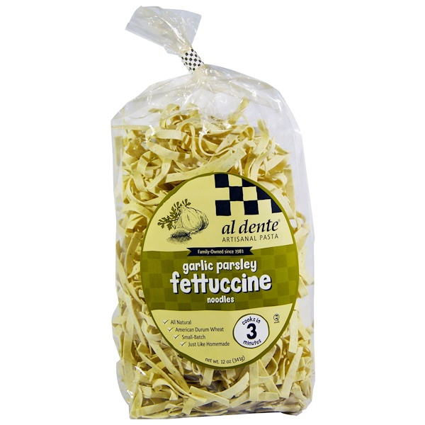 Al Dente Pasta, Garlic Parsley Fettuccine, 12 oz (341 g)