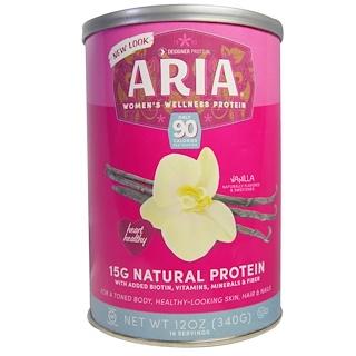 Designer Protein, Aria, Women's Wellness Protein, Vanilla, 12 oz (340 g)
