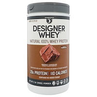 Designer Whey, with Acti-Blend, Natural 100% Whey-Based Protein, Gourmet Chocolate, 2 lbs (908 g) - фото