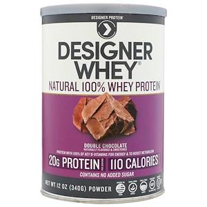 Дизайнер протеин, Designer Whey, Natural 100% Whey Protein, Double Chocolate, 12 oz (340 g) отзывы