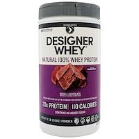 Designer Whey, натуральный 100%-ный сывороточный белок, двойной шоколад, 908 г (2 фунта) - фото