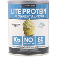 Lite Protein, низкокалорийный натуральный протеин, ванильный кекс, 9,03 унц. (256 г) - фото
