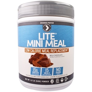 Дизайнер протеин, Lite, Mini Meal Low Calorie Meal Replacement Powder, Milk Chocolate, 1.12 lb (510 g) отзывы