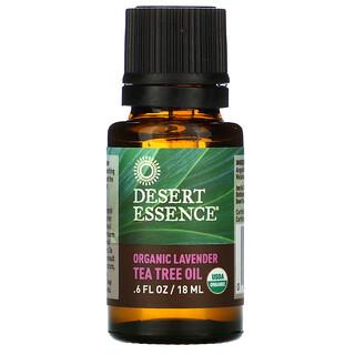 Desert Essence, オーガニック ラベンダー ティーツリーオイル, .6 液量オンス (18 ml)