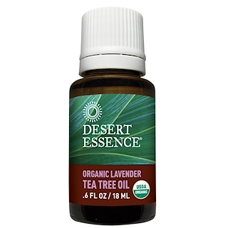 Desert Essence, Organic Lavender Tea Tree Oil, .6 fl oz (18 ml)