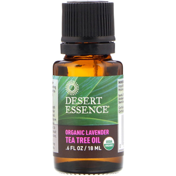 Óleo de Árvore do Chá e Lavanda Orgânico, .6 fl oz (18 ml)