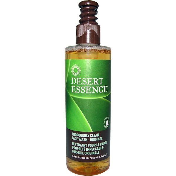 Desert Essence, Thoroughly Clean Face Wash - Original, 8.5 fl oz (250 ml)