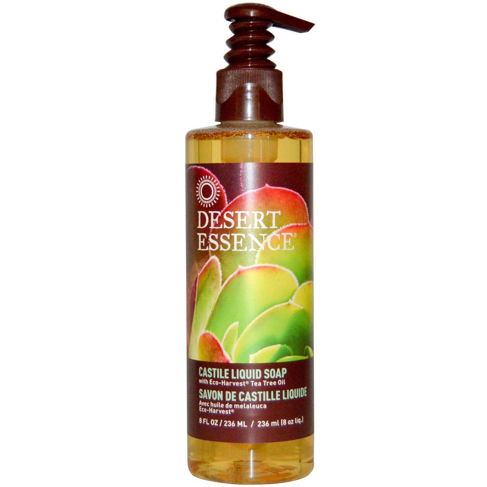 Desert Essence Castile Liquid Soap With Eco Harvest Tea
