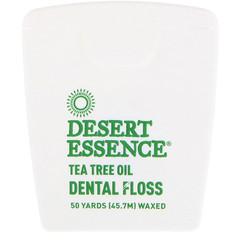 Desert Essence, Tea Tree Oil Dental Floss, Waxed, 50 Yds (45.7 m)
