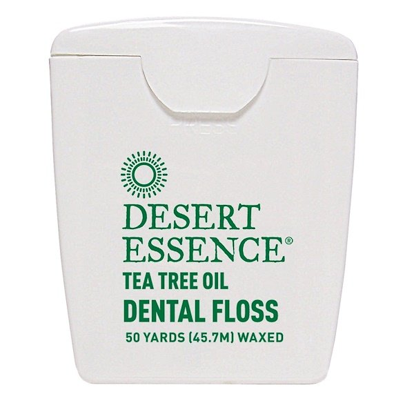 Desert Essence, Tea Tree Oil Dental Floss, Waxed, 50 Yds (45.7 m)