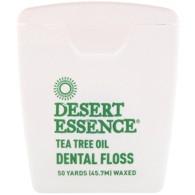 Tea Tree Oil Dental Floss, Waxed, 50 Yds (45.7 m)