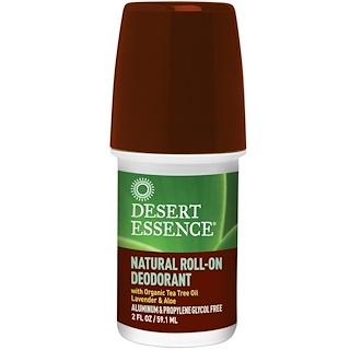 Desert Essence, Natural Roll-On Deodorant, 2 oz (60 ml)