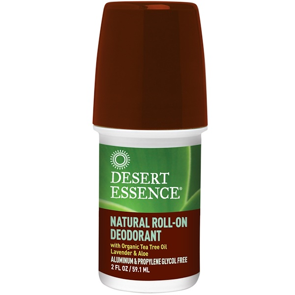 Desert Essence, Natural Roll-On Deodorant, 2 oz (60 ml) (Discontinued Item)