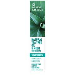Desert Essence, 天然ティーツリーオイル & ニーム歯磨き粉、ウィンターグリーンの香り、6.25オンス(176 g)