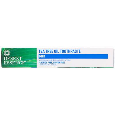 Фото - Зубная паста с маслом чайного дерева и мятой, 6,25 унц. (176 г) зубная паста cj lion dr sedoc original с маслом чайного дерева 140 г