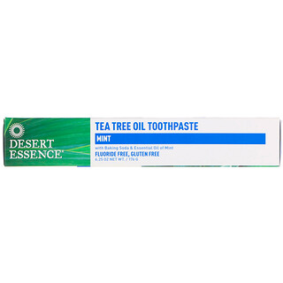 Desert Essence, Tea Tree Oil Toothpaste, Mint, 6.25 oz (176 g)