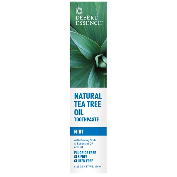 Desert Essence, Natural Tea Tree Oil Toothpaste, Mint, 6.25 oz (176 g)