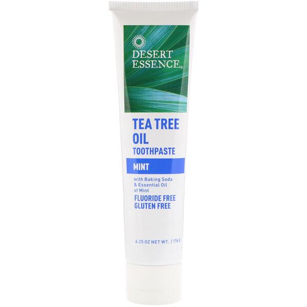 Desert Essence, Tea Tree Oil Toothpaste, Mint, 6.25 oz (176 g)