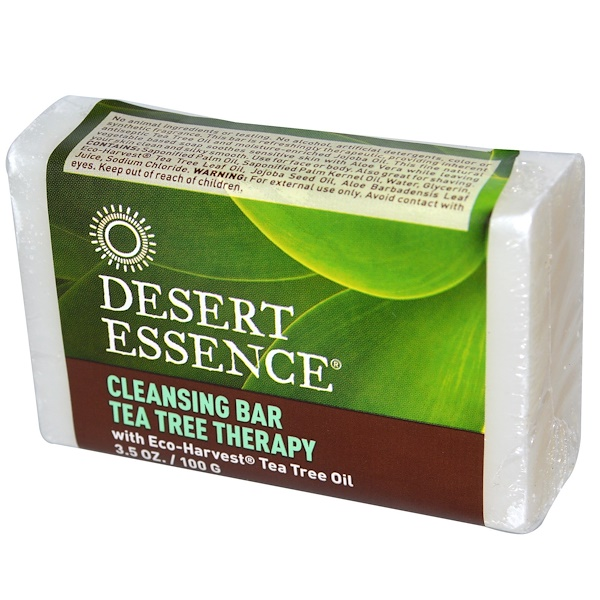 Desert Essence, Cleansing Bar Tea Tree Therapy, 3.5 oz (100 g) (Discontinued Item)