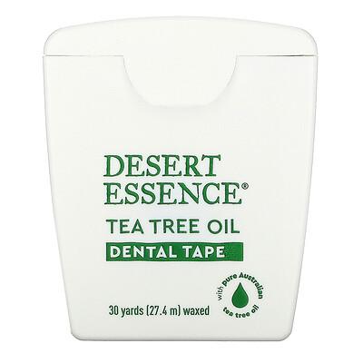 Desert Essence Зубная лента с маслом чайного дерева, покрытая воском, 30 ярдов (27,4 м)