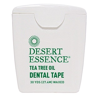 Desert Essence, Dental Tape, Tea Tree Oil, Waxed, 30 Yds (27.4 m)