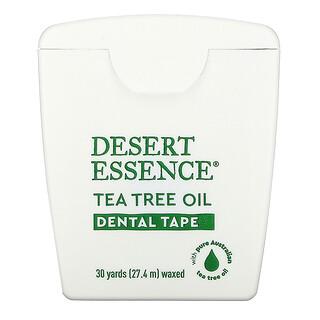 Desert Essence, Cinta dental de aceite de árbol de té, encerada, 30 yds (27.4 m)