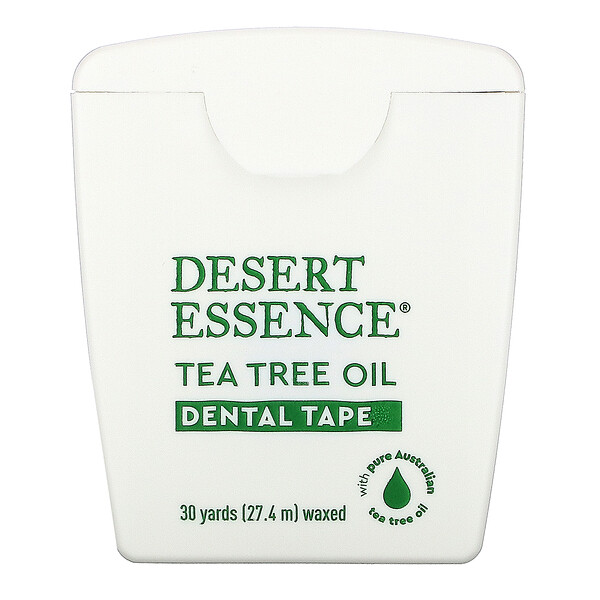 Desert Essence, Tea Tree Oil Dental Tape, Waxed, 30 Yds (27.4 m)