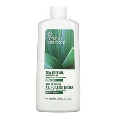 Desert Essence, 茶樹油漱口水,綠薄荷味,8 液量盎司(237 毫升)