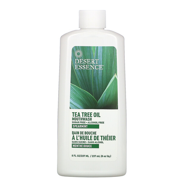 Tea Tree Oil Mouthwash, Spearmint , 8 fl oz (237 ml)