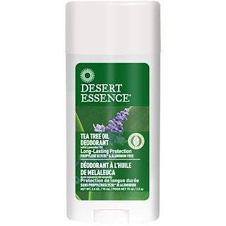 Desert Essence, Tea Tree Oil Deodorant with Lavender Oil, 2.5 oz (70 ml)