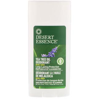 Desert Essence, Desodorante, aceite de árbol de té, 2.5 oz (70 ml)