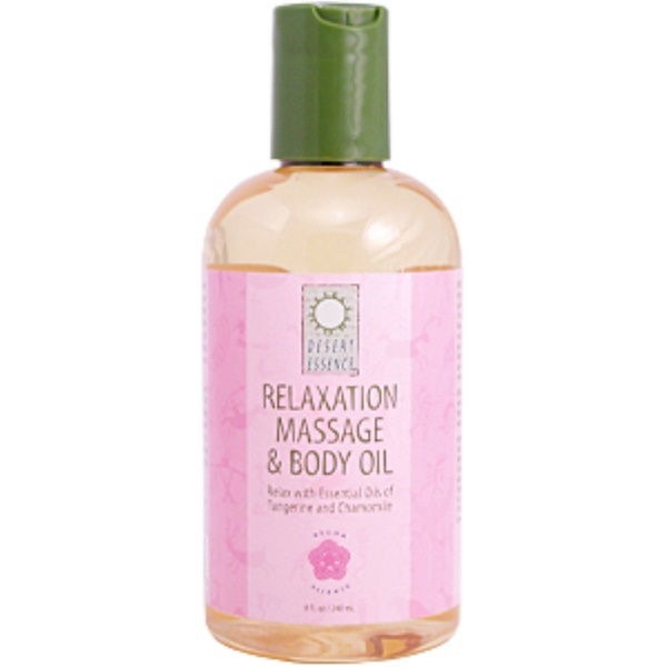 Desert Essence, Relaxation Massage and Body Oil, 8 fl oz (240 ml) (Discontinued Item)