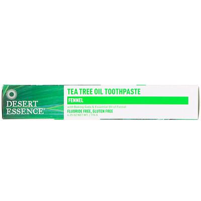 Зубная паста с маслом чайного дерева и фенхелем, 6,25 унц. (176 г)