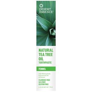 Desert Essence, Natural Tea Tree Oil Toothpaste, Fennel, 6.25 oz (176 g)